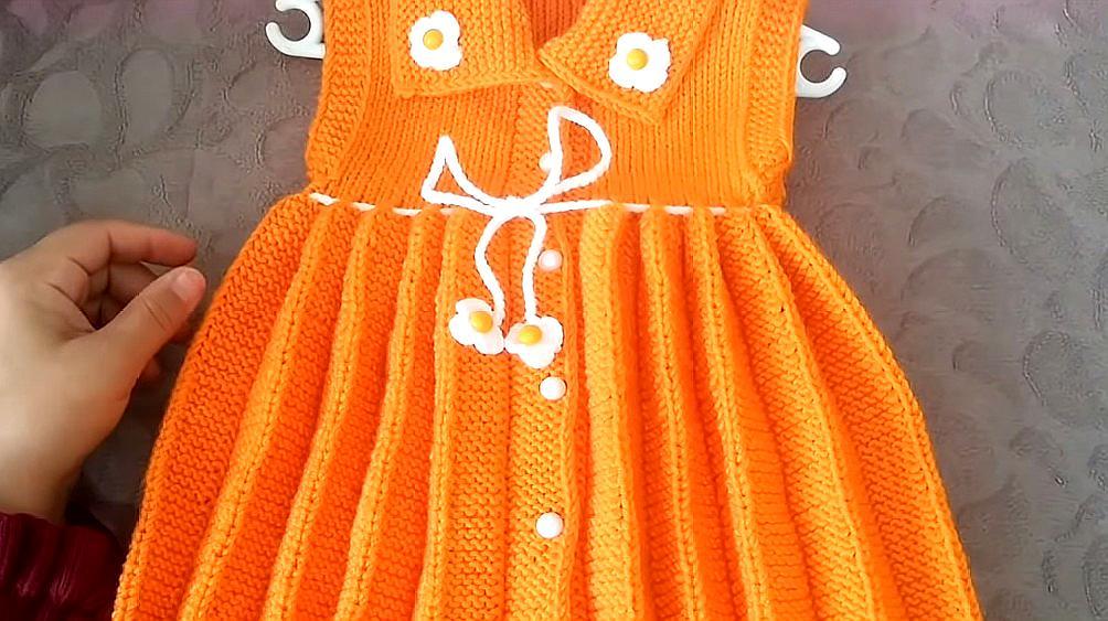 百褶裙是怎樣編織出來的?一款百褶邊編織教程,自由決定寬窄!