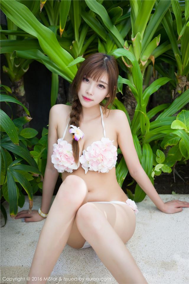 [魅妍社] 养眼的大波美女沈佳熹清纯写真图片 VOL.125