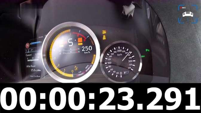 雷克萨斯GS F,0-280kph加速展示