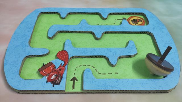 手工达人用废纸板自制迷宫玩具,玩法简单又有趣,1分钟就能做好