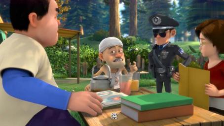 熊出没:光头强应付森林警察很机灵啊,烧烤店秒变休闲娱乐区