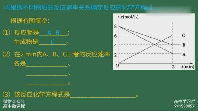 高中化学必修 化学反应速率的计算及比较微