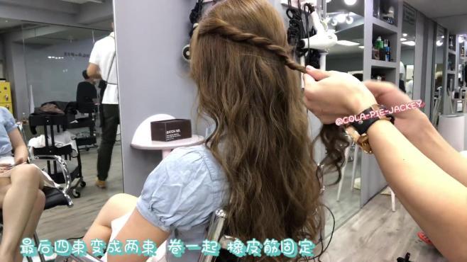 编发教程 这个夏天学一款简单又好看的编发发型 搭配新发色很仙气