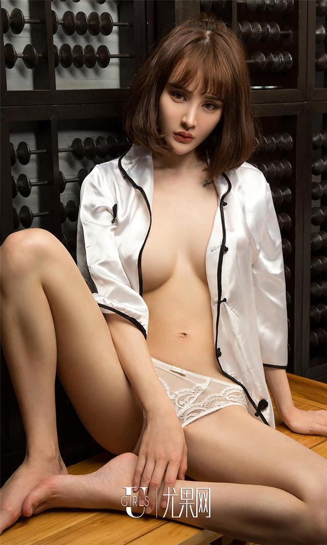 [尤果网] 蘑菇街短发模特青树蕾丝吊带睡裙写真 第788期