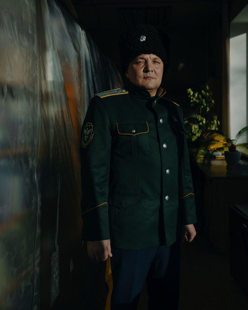 代表阿穆尔地区哥萨克人组织的负责人亚历山大·尤里科。