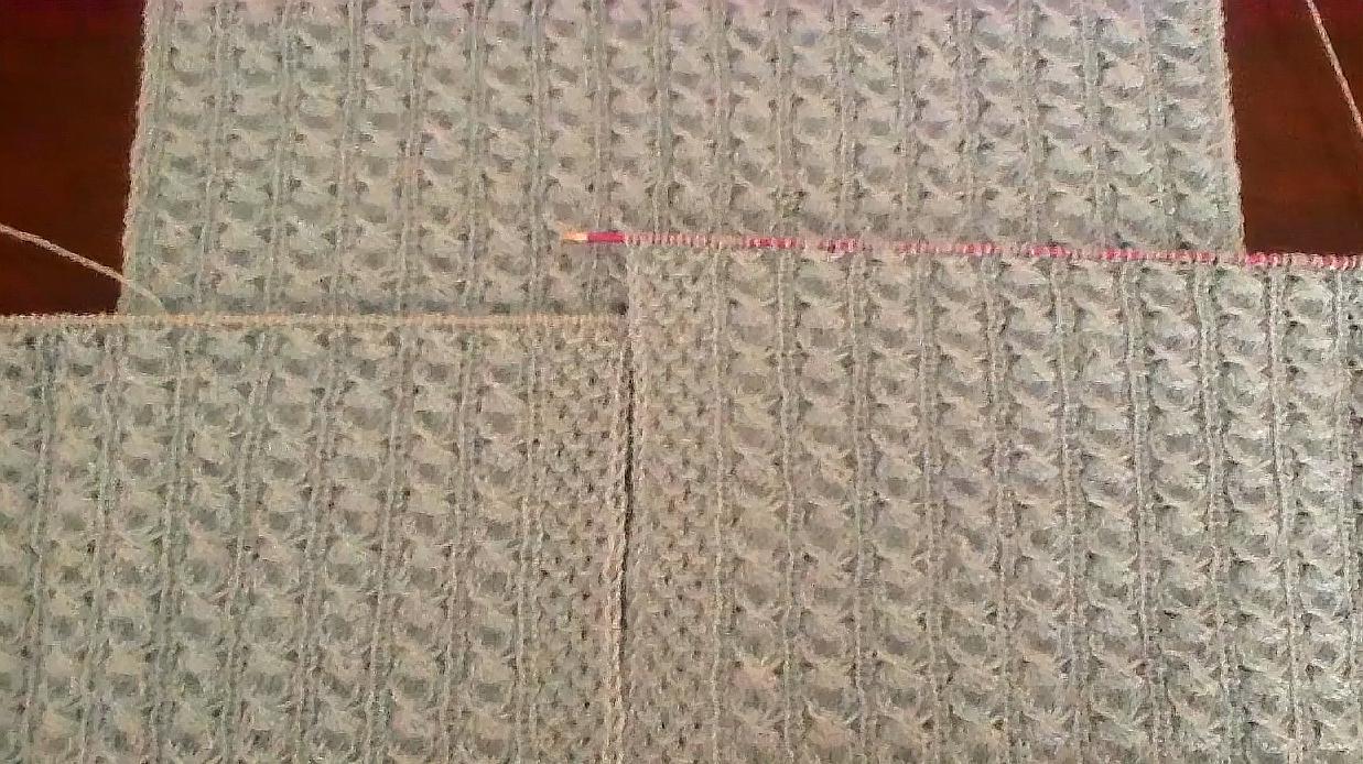 一款老少皆宜的開衫花樣棒針編織,非常優雅漂亮