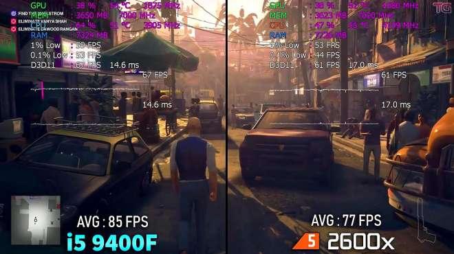 英特尔酷睿i5 9400F和锐龙5 2600x游戏性能测试对比,哪个好