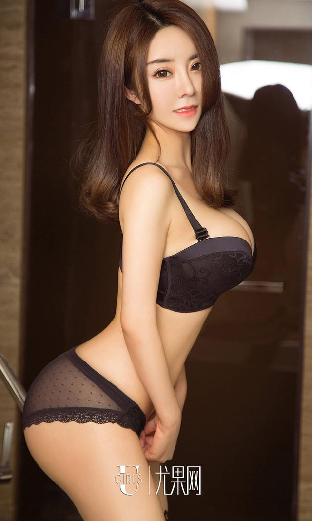 [Ugirls]爱尤物 No.1085 黑色蕾丝 羽蒙 [3