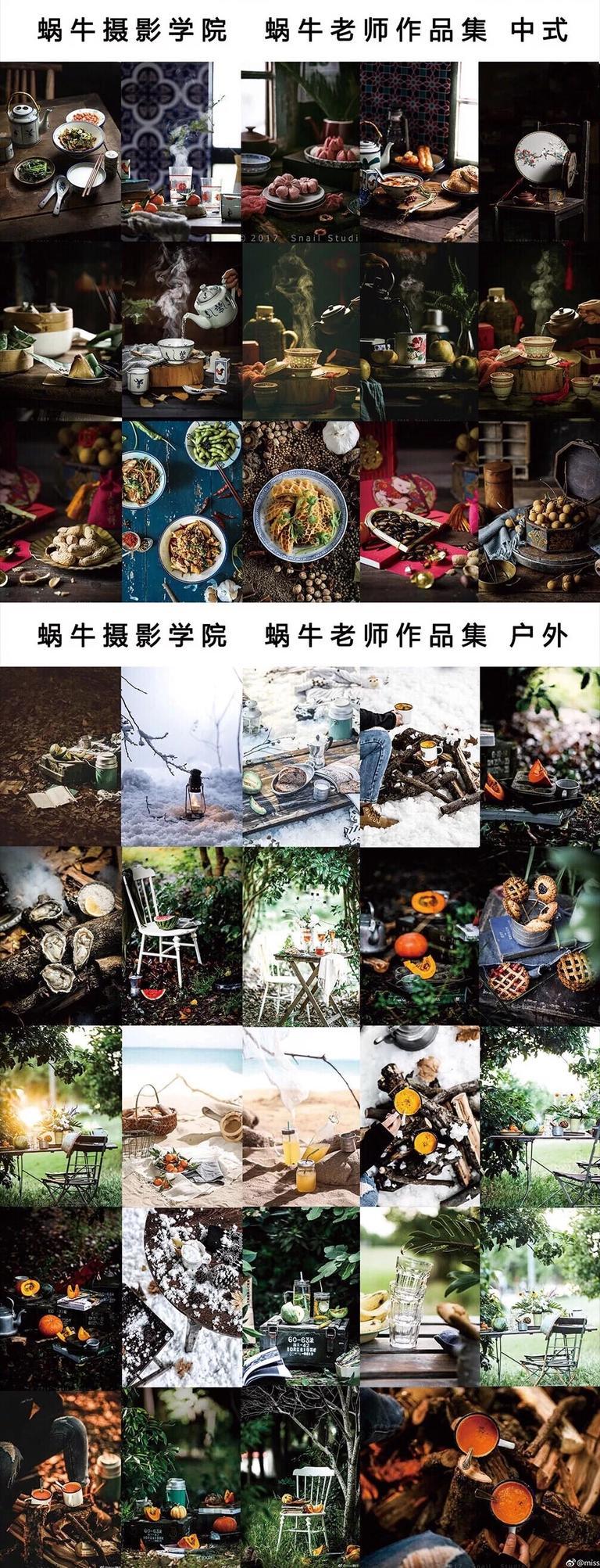 蜗牛食品美食摄影前后期视频教程