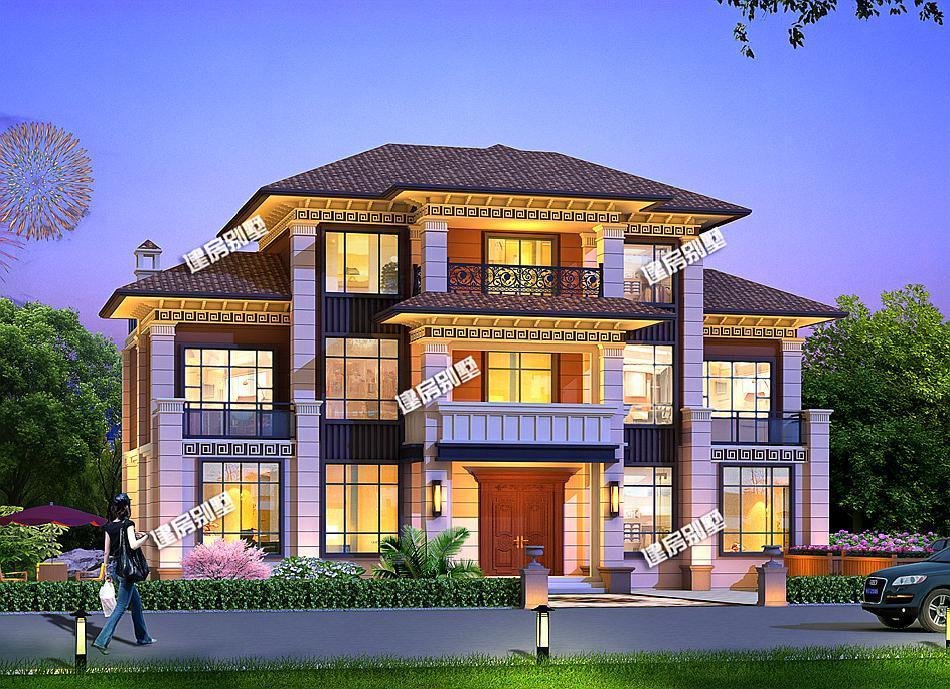19.3×11.2米三层别墅,新中式外观,布局很豪华!