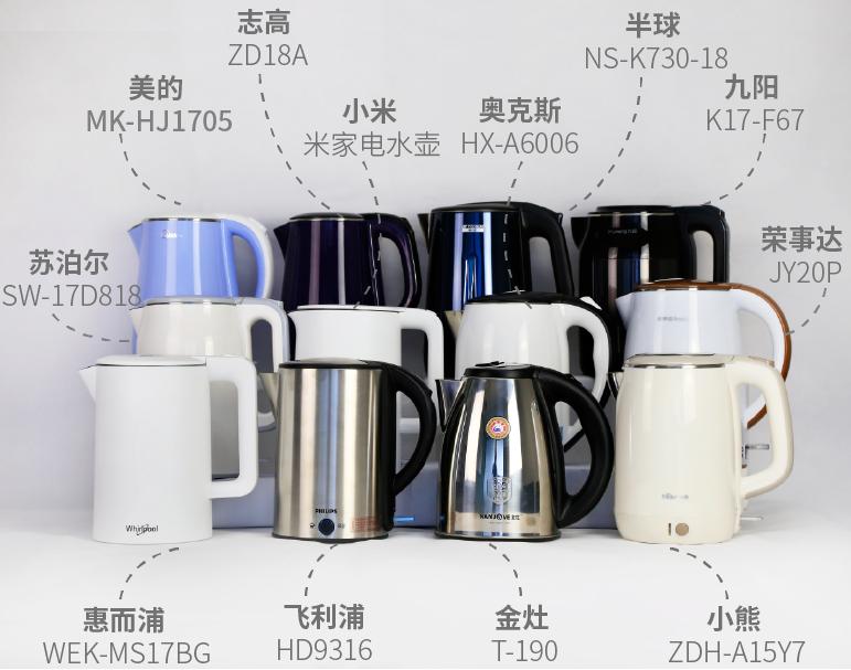 【CCR测评】12款电热水壶对比测评