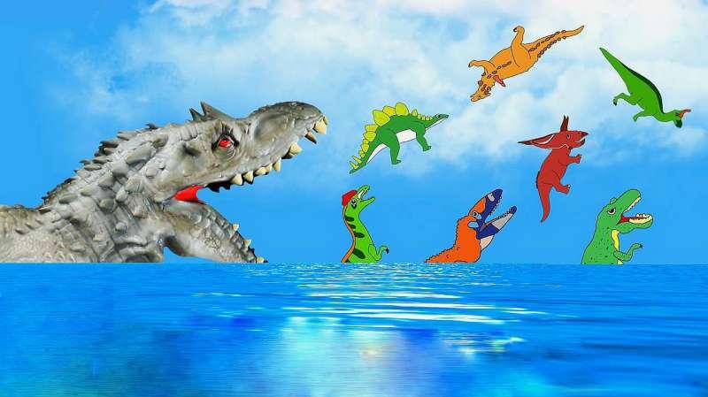 拯救恐龙_远古巨兽拯救恐龙岛的小恐龙们_好看视频
