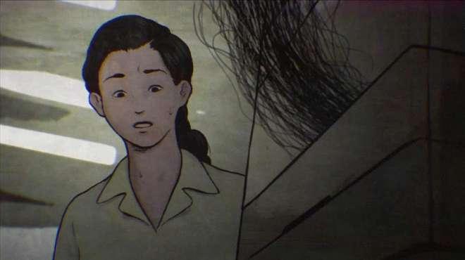暗黑动画:女孩学校加班到深夜,复印机频出故障,只因内有脏东西