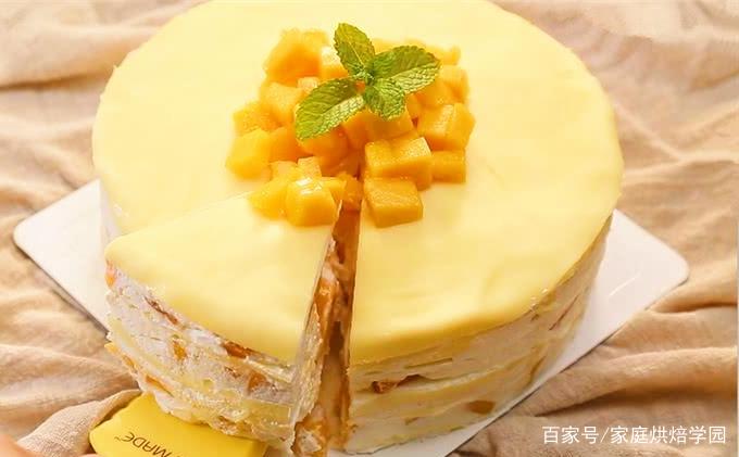 家庭烘焙第十九课:芒果千层的简化做法,无需烤箱哦