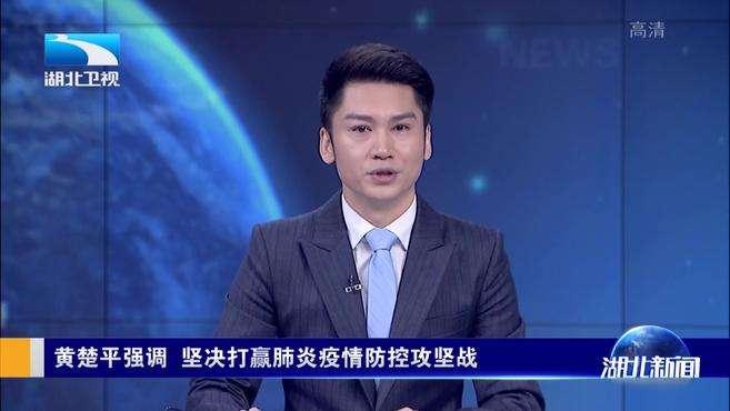 黄楚平强调 坚决打赢肺炎疫情防控攻坚战 (武汉台)