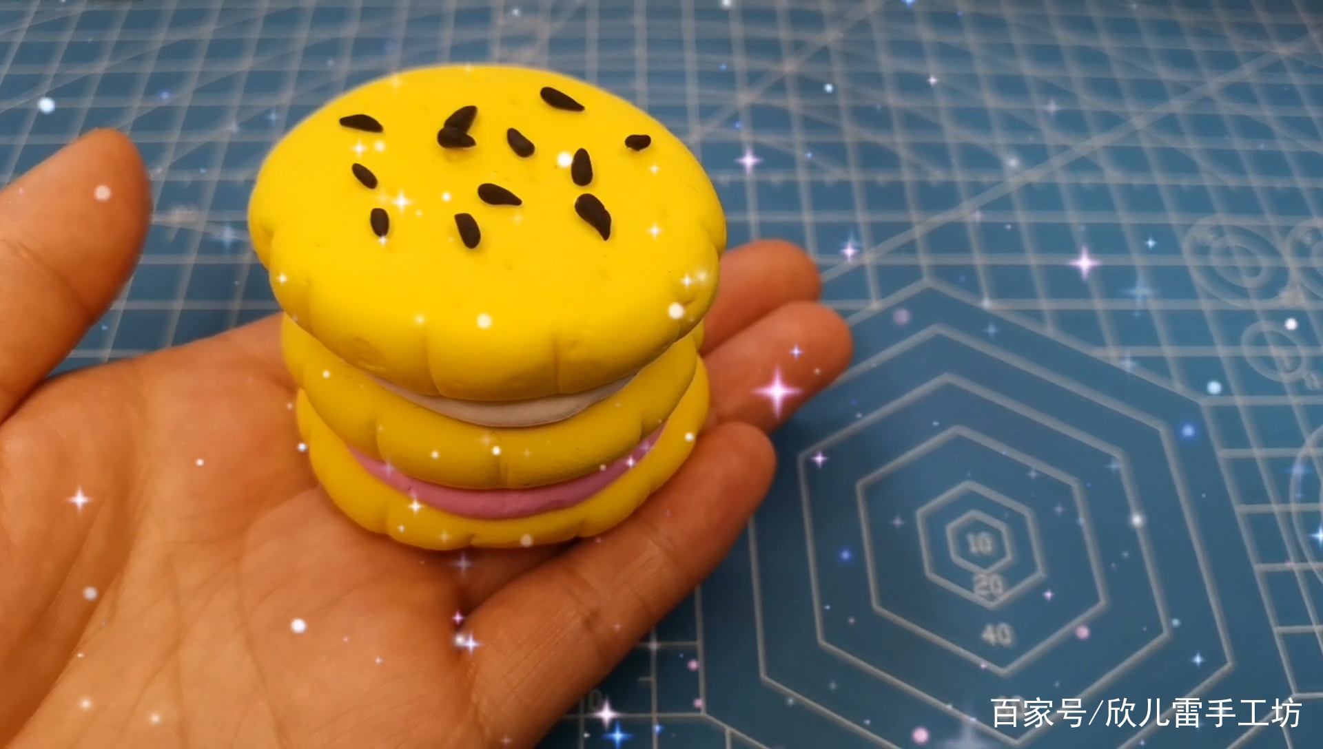 简单好做手工粘土橡皮泥食物饼干,一看就会适合亲子互动游戏