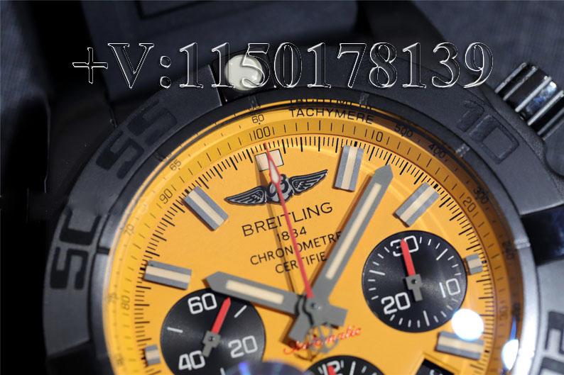 测评:GF百年灵机械计时MB0111C3黄盘 防水机芯性能如何?
