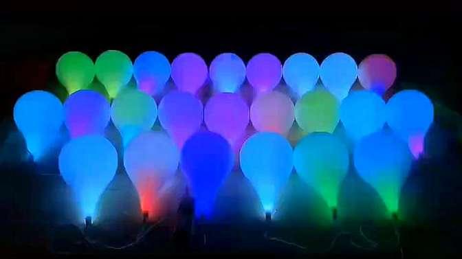 漂亮的七彩幻彩灯泡球泡
