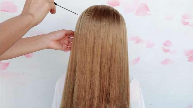 你的长发该换发型了,学会这种扎法,再也不用愁不会扎头发了
