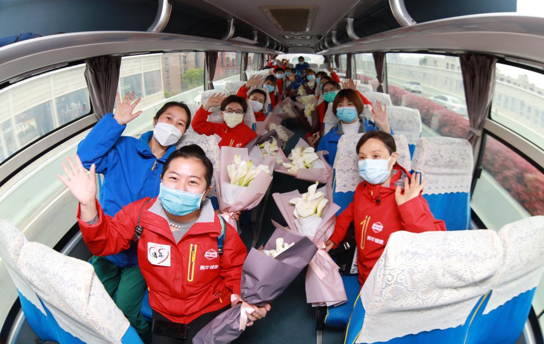 美年健康援湖北醫療隊200名白衣戰士平安歸來