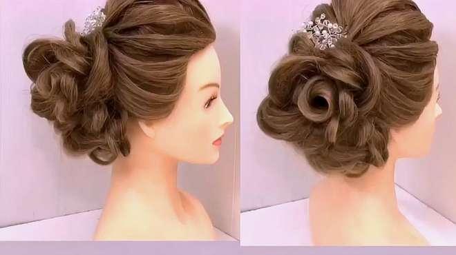 魅力新娘盘发,看着心动了吗