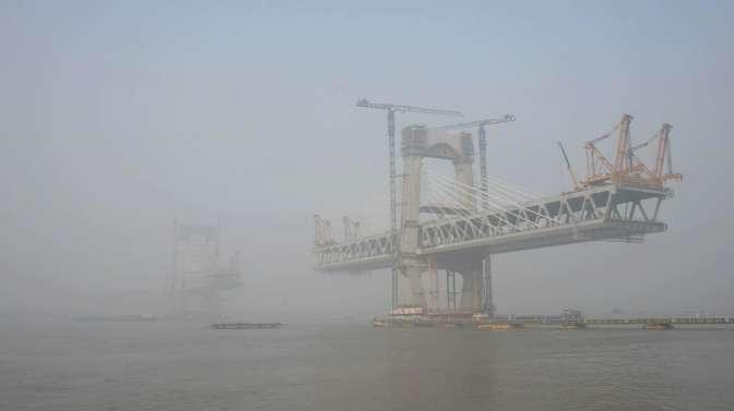 商合杭高铁芜湖长江大桥最新实拍,建成后它将是芜湖的标志性建筑