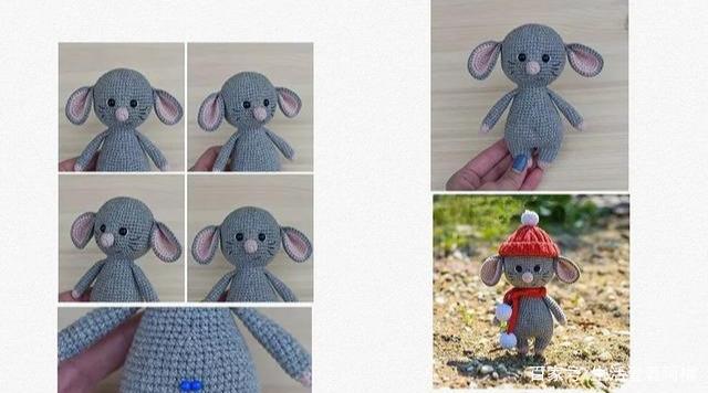 当下最火的生肖鼠玩偶,鼠年吉祥物,附钩针编织图解教程!