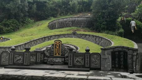 台湾曾子南风水作品名墓研究,风吹罗带穴,虎形穴,双凤朝牡丹穴